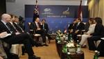 Jefe de Estado tuvo encuentro bilateral con el Primer Ministro de Nueva Zelanda, John Key