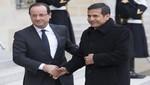 Ollanta Humala se reunirá mañana con Francois Hollande aprovechando de una 'escala técnica' en París