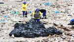 Distrito de San Miguel continúa limpiando sus playas