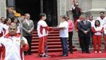 El Presidente Ollanta Humala recibió la antorcha con la llama bolivariana en Palacio de Gobierno