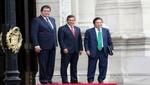 Presidente Ollanta Humala se reunió con ex mandatarios García y Toledo