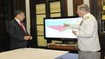 Mandatario monitoreó ingreso de naves de la Marina de Guerra del Perú en mar reconocido como peruano por Corte de La Haya
