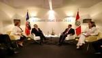 Presidente Humala se reunió con mandatario chileno Sebastián Piñera