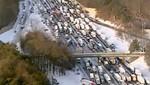 EE.UU: Tormenta de nieve crea caos en carretera de Atlanta [VIDEO]