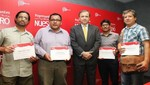 """MINCETUR y PROMPERÚ presentaron a los cuatro ganadores de la campaña """"Representantes de lo Nuestro"""""""