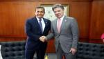 Humala y Santos se reunieron minutos previos a la inauguración de la 27° Feria Internacional del Libro