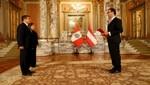 Jefe de Estado recibe cartas credenciales de nuevos embajadores de Turquía y de Austria