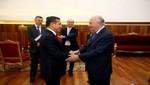 Ex presidente de Chile, Ricardo Lagos, es recibido en audiencia por el mandatario Ollanta Humala