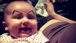 Dibujar cejas a los bebés es el último éxito de Internet [FOTOS]