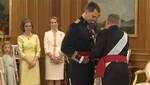 Imposición de la Faja de Capitán General a Felipe VI de España