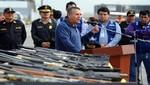 Se presentó más de 80 armas y 54 mil municiones incautadas en Ica