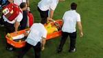 Neymar volvió al campo de entrenamiento de Brasil en ambulancia [VIDEO y FOTOS]