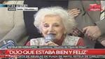 [Argentina] Estela de Carlotto, tras recuperar a su nieto: 'Yo no quería morir sin abrazarlo'