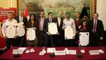 Congreso de la República entregó diploma de honor a atletas Andy Martínez, Inés Melchor y Jorge McFarlane