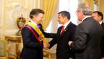 Presidente Humala asistió a toma de posesión de Juan Manuel Santos como presidente de Colombia