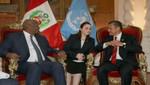 Jefe de Estado se reunió con Presidente de la Asamblea General de las Naciones Unidas