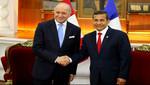 Ollanta Humala y canciller de Francia, Laurent Fabius, se reunieron en Palacio de Gobierno