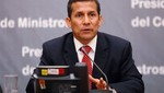 Presidente Ollanta Humala dirigió sesión del Consejo de Ministros