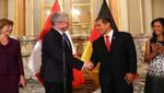 Jefe de Estado recibió visita de presidente de Alemania, Joachim Gauck, en Palacio de Gobierno