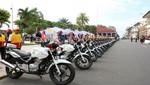 Policía Nacional recibe motos y equipos para reforzar lucha contra el tráfico de drogas en Iquitos