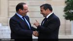 Presidente francés François Hollande es recibido por Ollanta Humala en Palacio de Gobierno