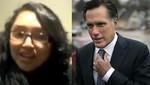 Joven inmigrante peruana emplaza a candidato republicano Mitt Romney (video)