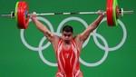 Hernán Viera iguala Récord Nacional de Envión en la división 105 kg en Río 2016