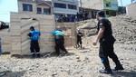 Serenos de Ventanilla y Policía  desalojaron invasores de terrenos públicos
