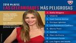 Sofía Vergara, Gael García y Shakira son las celebridades más peligrosa detectadas en internet por Mcafee en 2016