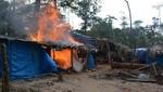 Balsas y campamentos mineros son destruidos en operativo conjunto contra minería ilegal en Reserva Nacional Tambopata