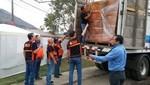 INDECI facilitó un importante lote de carpas para los damnificados por el incendio en Cantagallo en el Rimac