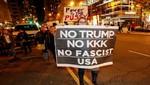 Miles de manifestantes anti-Trump tomaron las calles de las ciudades estadounidenses