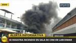Alerta en Miraflores por incendio en un cine en Larcomar (VIDEO)
