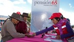 El 28,3% de la población de 65 y más años de edad accedió al Programa Social Pensión 65