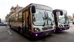 MML presentó moderna flota de buses para nuevos servicios del Corredor Morado