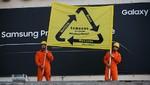 Greenpeace se cuela en la presentación mundial de Samsung para pedirle que recicle los Galaxy Note defectuosos