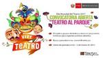 "Ministerio de Cultura lanza convocatoria de ""Teatro al Parque"""