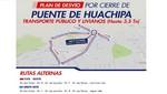 MML informa rutas alternas ante cierre de puente Tumi en Huachipa