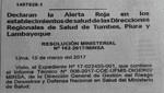Minsa declara en alerta roja Tumbes, Piura y Lambayeque por lluvias