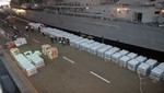 BAP Tacna zarpó con 500 toneladas de alimentos donados por la SNI