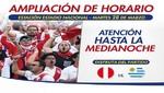 Metropolitano ampliará servicio en estación Estadio Nacional por partido Perú – Uruguay