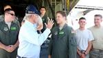 Presidente Kuczynski recibió en Chiclayo avión Hércules enviado por EEUU