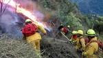 Guardaparques bomberos controlan incendio forestal en Santuario Histórico de Machupicchu