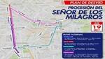 MML informa las rutas alternas este jueves 19 por recorrido del Señor de los Milagros