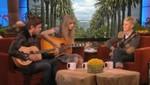 Zac  Efron y Taylor Swif le cantan a Ellen DeGeneres (Video)