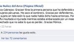 Silvia Núñez agradeció a Mónica Cabrejos por defenderla