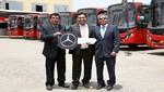 Divemotor entrega flota de 18 buses urbanos Mercedes-Benz a empresa de transportes y servicios el rápido
