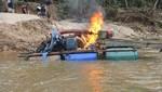 Destruyen campamentos de minería ilegal en zona de amortiguamiento de la Reserva Comunal El Sira
