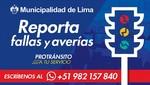 Municipalidad de Lima lanza número de whatsapp para reportar fallas en semáforos