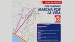 Municipio de Lima informa plan de desvío vehicular por Marcha por la Vida